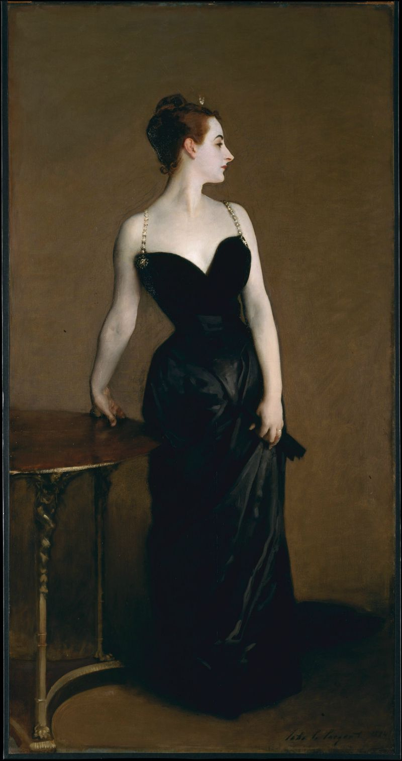 Portrait of Madame X by John Singer Sargent (1856 – 1925)